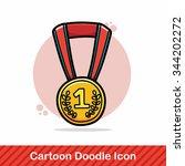 medal doodle   Shutterstock .eps vector #344202272