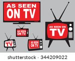 set of as seen on tv icon with... | Shutterstock .eps vector #344209022