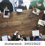 doctor meeting teamwork...   Shutterstock . vector #344215622