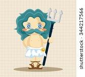 greek deity theme elements | Shutterstock .eps vector #344217566