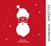 christmas greeting card. santa... | Shutterstock .eps vector #344227115
