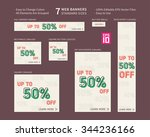 vector business standard size... | Shutterstock .eps vector #344236166