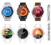 smart watch application... | Shutterstock .eps vector #344237756