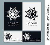 black and white symbols ... | Shutterstock .eps vector #344238512