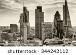 city financial district at... | Shutterstock . vector #344242112