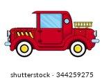 red old car  vector illustration | Shutterstock .eps vector #344259275
