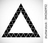 modern geometrical triangle... | Shutterstock .eps vector #344260952