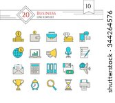 modern line icons set. icons... | Shutterstock .eps vector #344264576