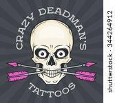 tattoo shop logo template.... | Shutterstock .eps vector #344264912