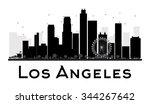 los angeles city skyline black... | Shutterstock .eps vector #344267642