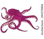 pink octopus illustration   ...   Shutterstock .eps vector #344270846