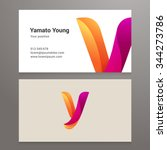 modern letter y twisted... | Shutterstock .eps vector #344273786
