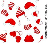 seamless winter pattern with... | Shutterstock .eps vector #344282156