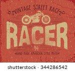 Vintage Racer Label Print