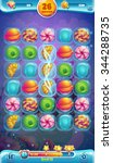 sweet world mobile game user...   Shutterstock .eps vector #344288735