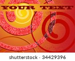 red hot abstract curl... | Shutterstock .eps vector #34429396