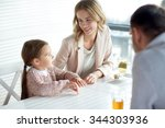 family  parenthood ... | Shutterstock . vector #344303936