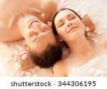 picture of couple in spa salon... | Shutterstock . vector #344306195