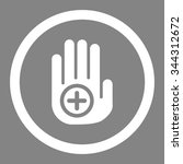 hand medical marker vector icon.... | Shutterstock .eps vector #344312672