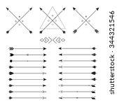 big set of different arrows.... | Shutterstock . vector #344321546