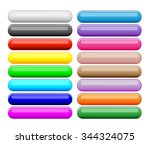 colorful buttons set | Shutterstock .eps vector #344324075