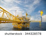 offshore construction platform... | Shutterstock . vector #344328578