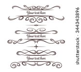 set of elegant flourishes for... | Shutterstock .eps vector #344343896