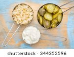 Sauerkraut  Cucumber Pickles...