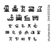 set icons of machine tool ... | Shutterstock .eps vector #344355536