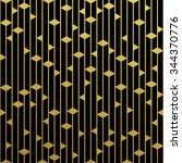 Geometric Gold Glittering...
