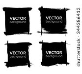 square black banners set from... | Shutterstock .eps vector #344386412
