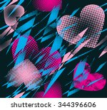 abstract seamless vector... | Shutterstock .eps vector #344396606