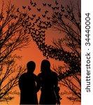 Couple Walks On Nature