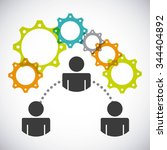 collaborative people design ... | Shutterstock .eps vector #344404892