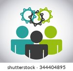 colaborative people design ... | Shutterstock .eps vector #344404895