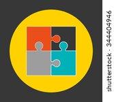 puzzle assembling design ... | Shutterstock .eps vector #344404946