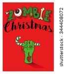 zombie christmas hand | Shutterstock .eps vector #344408072