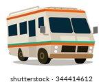vintage rv camper cartoon for... | Shutterstock .eps vector #344414612