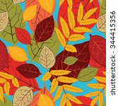autumn seamless pattern with... | Shutterstock .eps vector #344415356