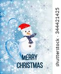 merry christmas background with ... | Shutterstock .eps vector #344421425