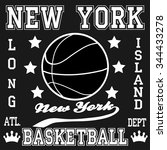 new york fashion basketball... | Shutterstock .eps vector #344433278