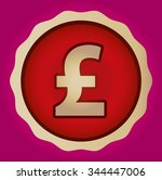 the currency sign of pound ... | Shutterstock .eps vector #344447006
