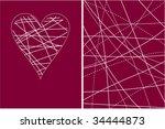 valentine background. heart | Shutterstock .eps vector #34444873