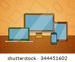 vector hand drawn illustration... | Shutterstock .eps vector #344451602