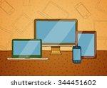 vector hand drawn illustration... | Shutterstock .eps vector #344451602