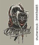 dead jester | Shutterstock .eps vector #344456885