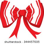 illustration red ribbon with... | Shutterstock .eps vector #344457035