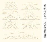 set of mountains  vector... | Shutterstock .eps vector #344467625