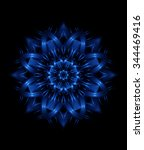 Decorative Kaleidoscopic Blue...