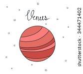 doodle icon. venus. vector... | Shutterstock .eps vector #344471402